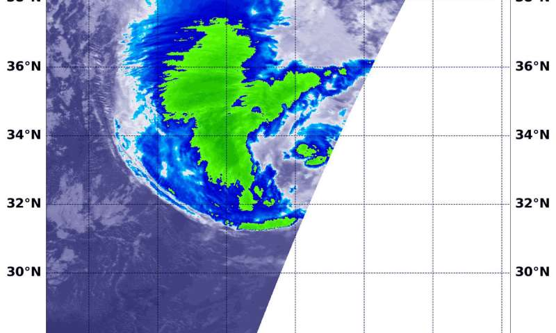 NASA gets an infrared view of Hurricane Oscar