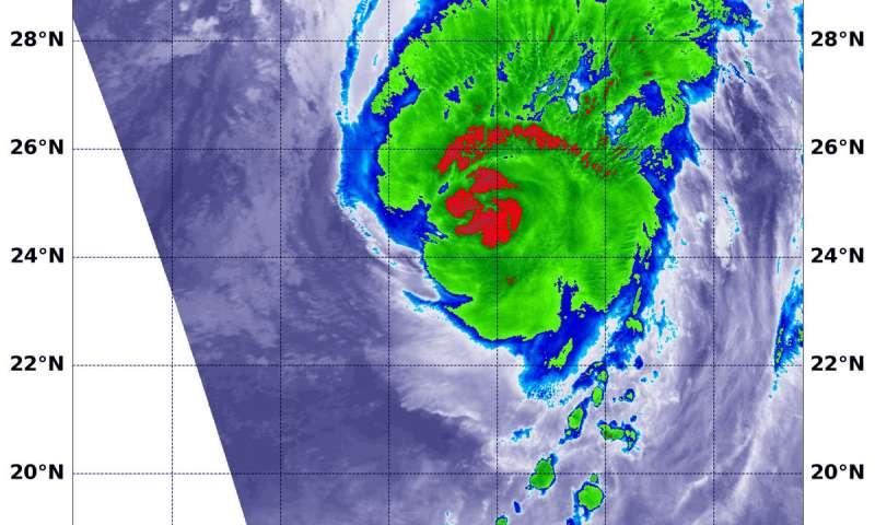 NASA sees Hurricane Walaka battering Papahanaumokuakea Marine National Monument
