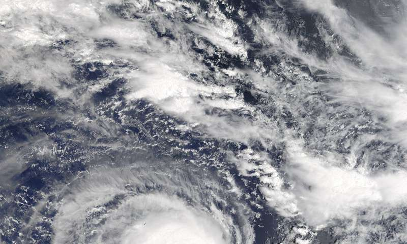 NASA sees Tropical Cyclone Berguitta heading toward Mauritius