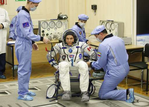 Three astronauts blast off to International Space Station