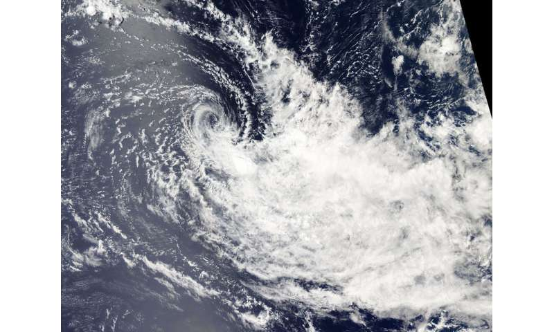 NASA sees Tropical Cyclone Bouchra being blown apart