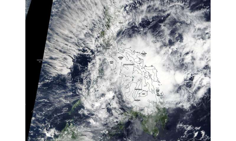 NASA sees Tropical Depression 33W affecting Philippines