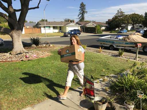 Humans still heft groceries on-demand, for now