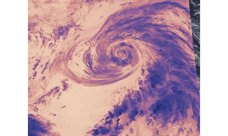 NASA examines brightness temperatures of Tropical Cyclone 15W