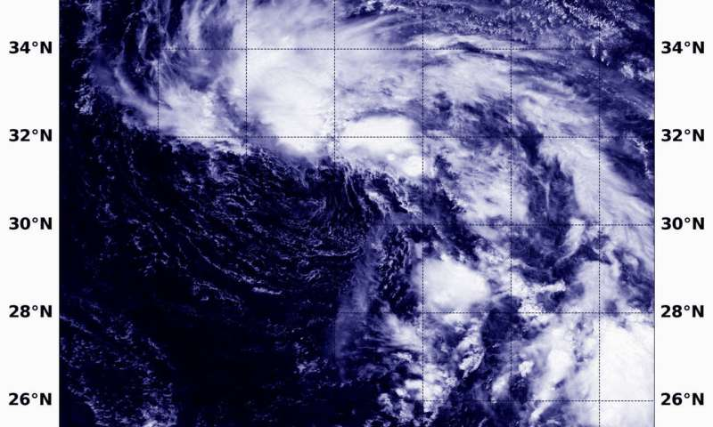 NASA finds wind shear battering Tropical Depression 16W