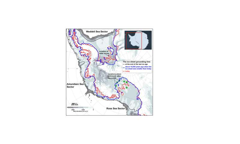 New study suggests surprising wrinkle in history of West Antarctic Ice Sheet