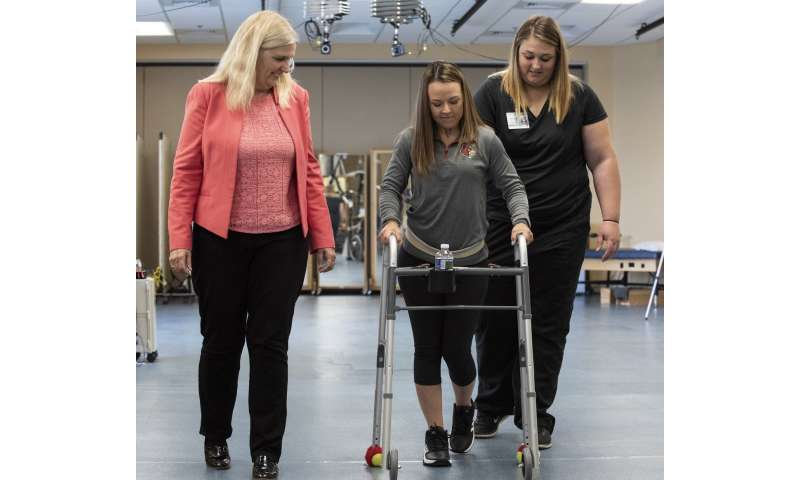Technology and therapy help individuals with chronic spinal cord injuries take steps