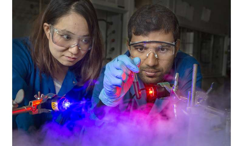 Researchers use photons to separate metal ions