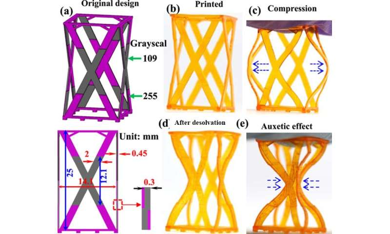 4D Printing Reversible Shape Changing Materials with Light-based Grayscale Patterning