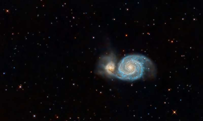 Astronomers find vast ionized hydrogen cloud in 'Whirlpool Galaxy' using ultra-sensitive Arizona telescope