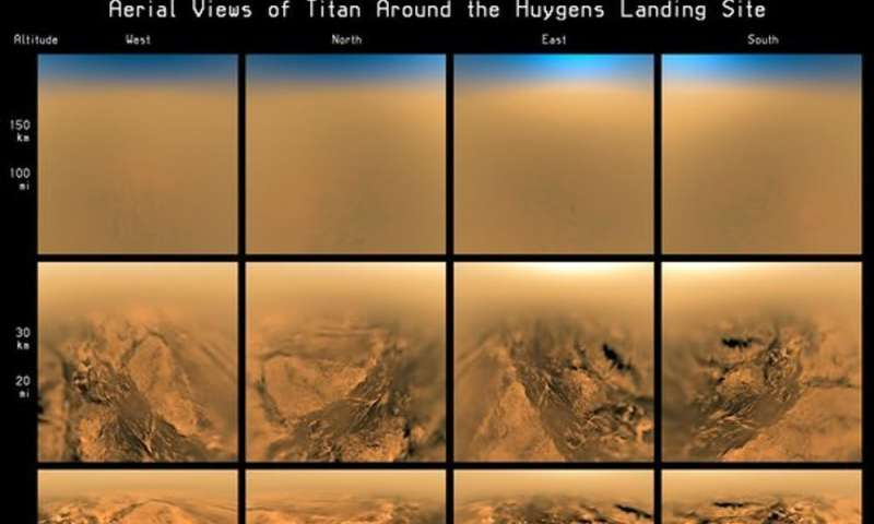 Capturing the shadow of Saturn's moon Titan from here on Earth
