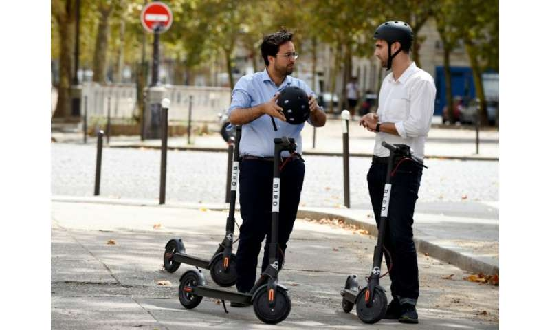 Electric scooter sharing programmes have been introduced in other European cities, such as this one by Bird in Paris