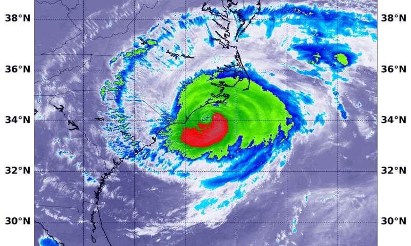 NASA-NOAA satellite sees land-falling Hurricane Florence