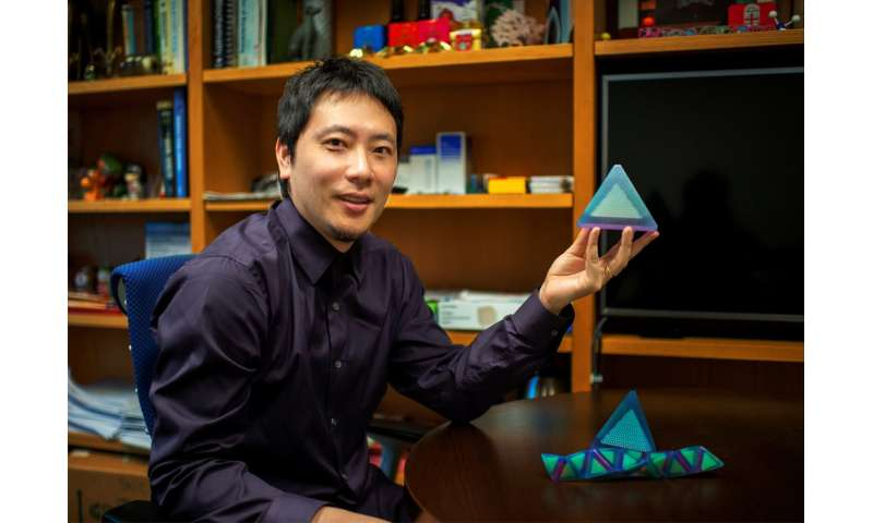 New nanoparticle superstructures made from pyramid-shaped building blocks