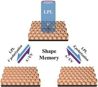Porous polymer films with shape memory