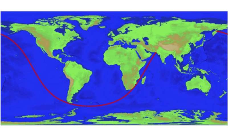Longest straight-line ocean path on planet Earth calculated