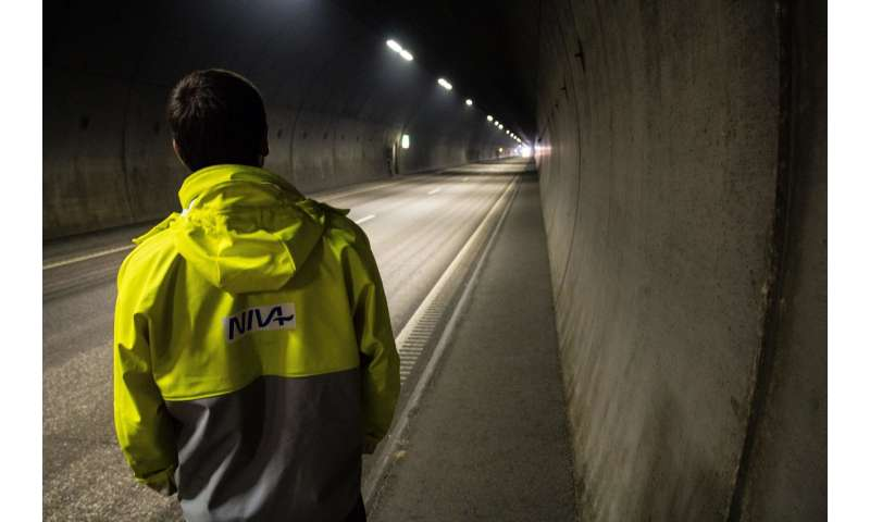 Chemicals are leaching from Norwegian roads and tunnels