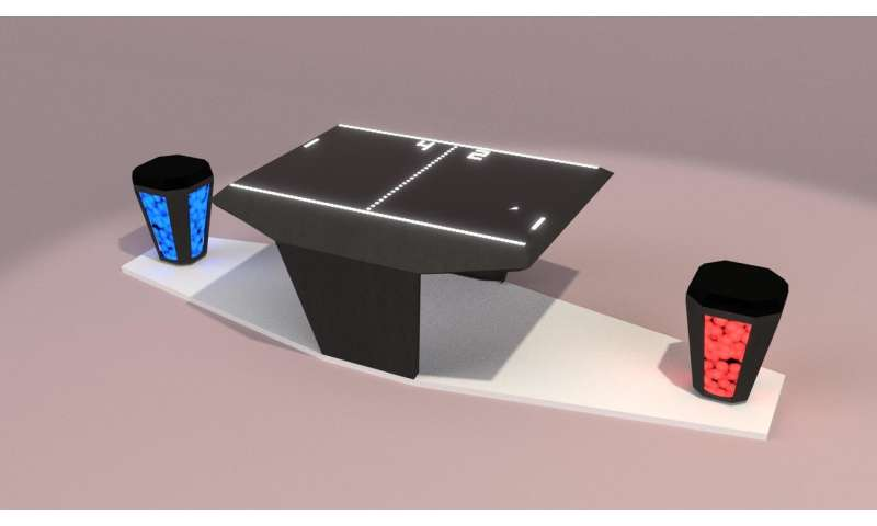 LED stool to combat back pain