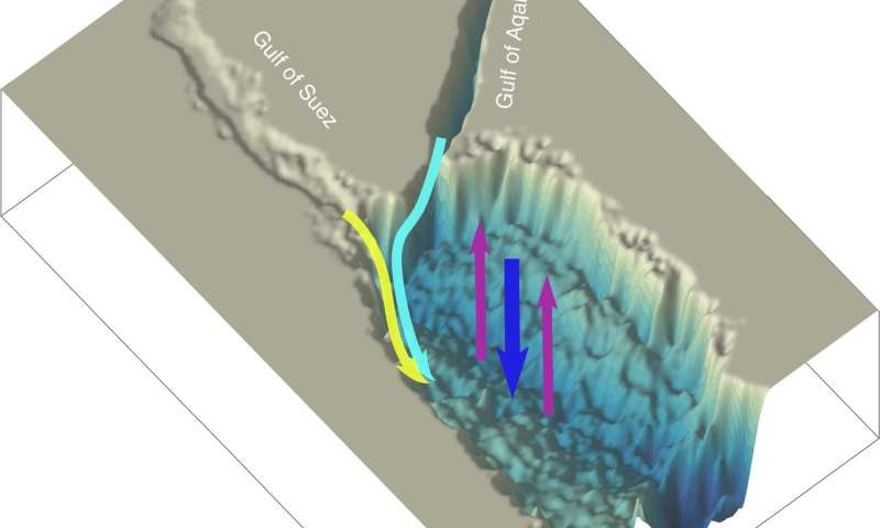 Red Sea flushes faster from far flung volcanoes