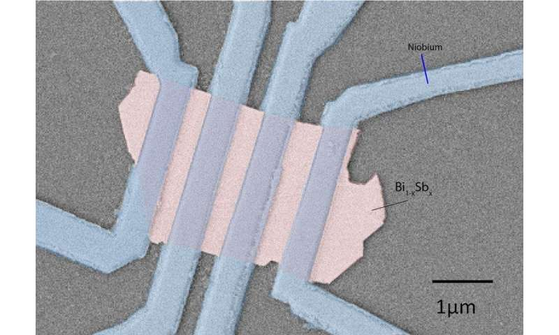 Topological material shows superconductivity—and not just at its surface