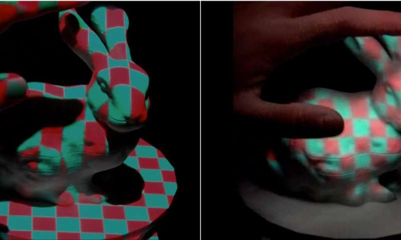 Projection mapping technique developed to reduce shadow