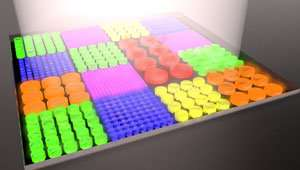 High-resolution full color images can be formed using silicon-nanostructure pixels