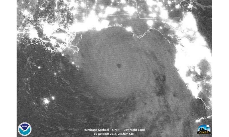 NASA analyzes category 4 Hurricane Michael approaching landfall