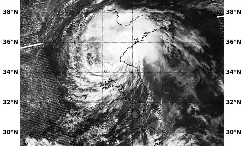 NASA-NOAA's Suomi NPP satellite catches Tropical Depression Ampil over Eastern China