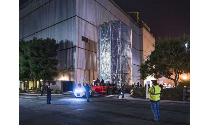 NASA's Webb Telescope wrapped in a mobile clean room