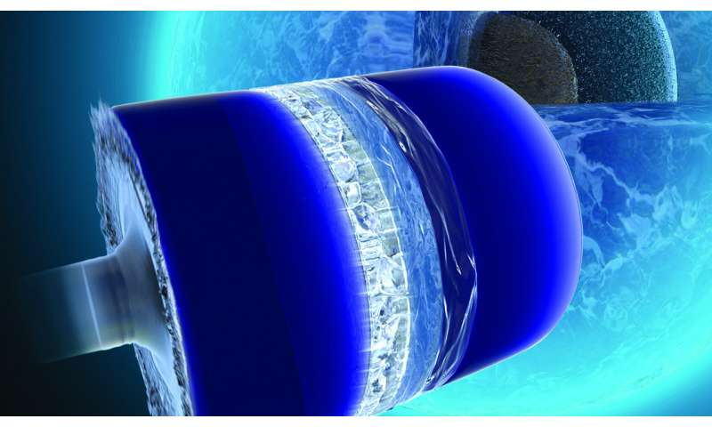 New understanding of the solidification of high-pressure ice found in 'ocean world' planets