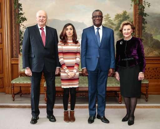 Nobel Peace winners urge global action vs. sexual violence