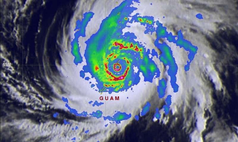 GPM Satellite shows powerful super Typhoon Yutu hitting Northern Marianas