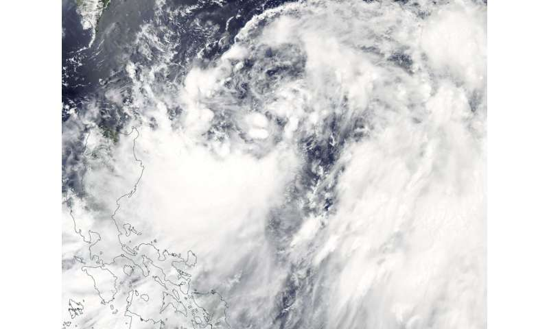 NASA's Aqua satellite sees formation of Tropical Storm Maliksi