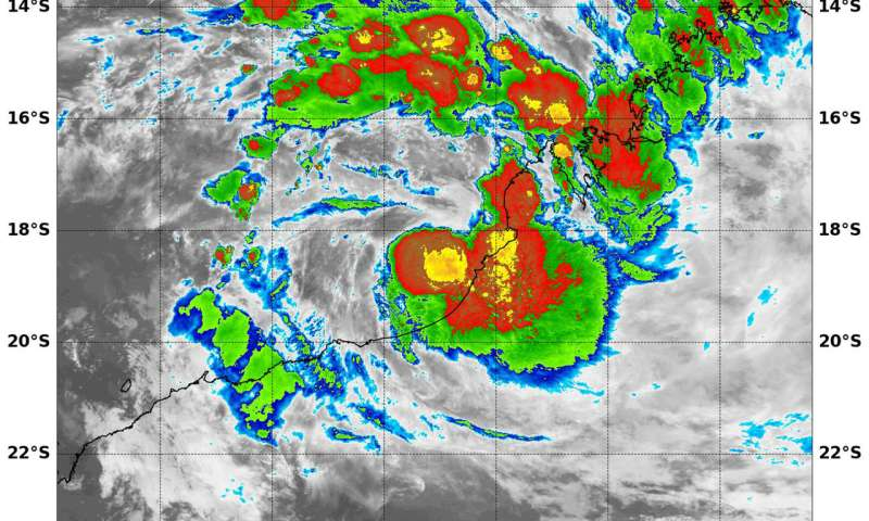 NASA sees Tropical Storm 10S form along Western Australia Coast