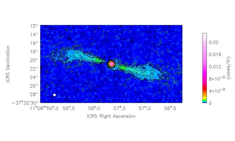 Researchers investigate molecular gas emission from the galaxy NGC 3557