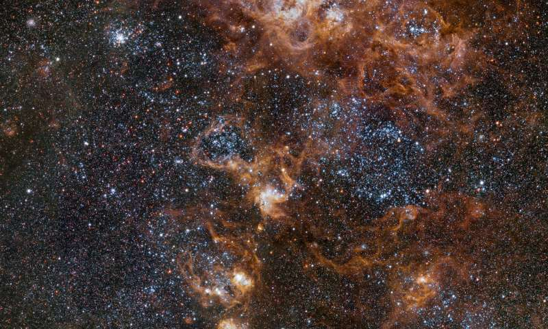 Tarantula Nebula: A crowded neighborhood Acrowdedneig