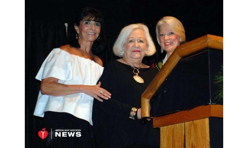 AHA: at 88, heart disease won't slow this glam texan philanthropist