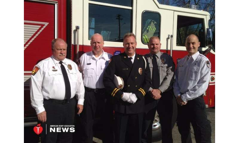 AHA: fire fighters save one of their own after heart attack