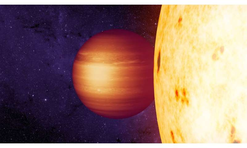 A 'hot Jupiter' with unusual winds