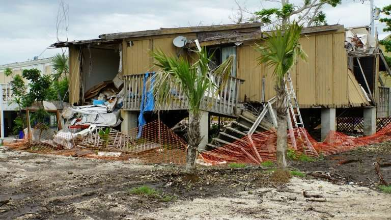A house destroyed by hurricane Irma still stands in disrepair in Big Pine Key, Florida, following last year's monster hurricane