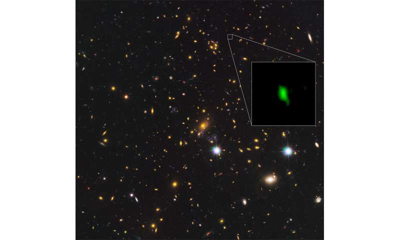 astronomers find evidence for stars forming just 250 million years