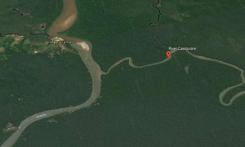 Amazon River pirating water from neighboring Rio Orinoco