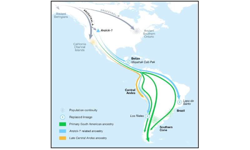 Ancient DNA evidence reveals two unknown organizations from North to South America