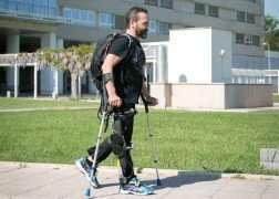 An exoskeleton for paraplegics