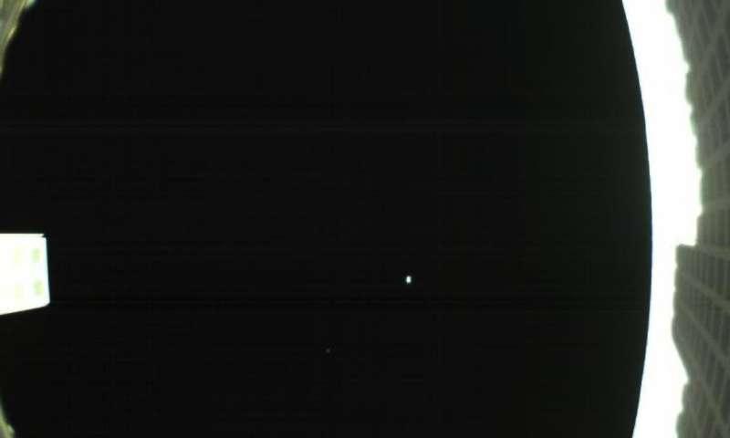 A pale blue dot, as seen by a CubeSat