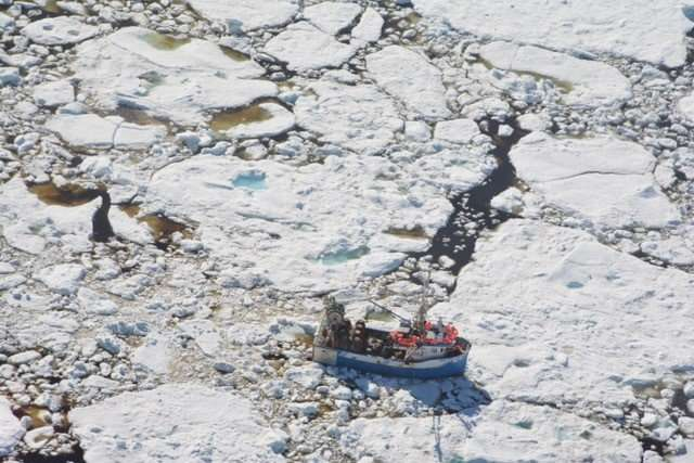 Arctic sea ice becoming a spring hazard for North Atlantic ships