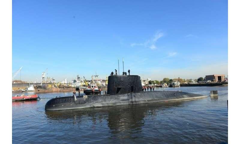 Argentine navy submarine ARA San Juan docked in Buenos Aires in 2014