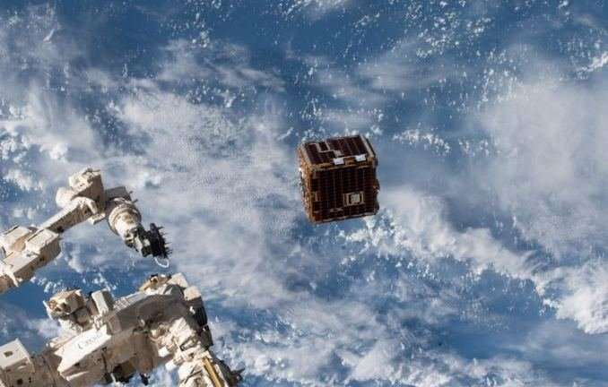 A satellite with a harpoon, net and drag sail to capture space junk is in orbit and will be tested soon