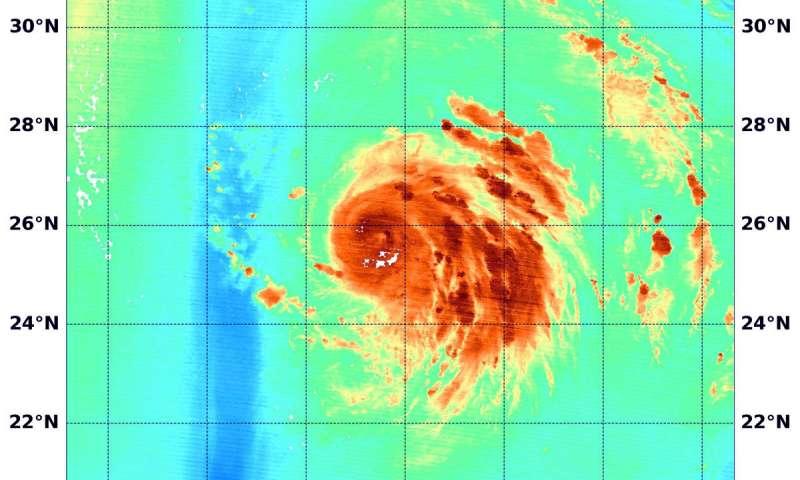 Atlantic's Hurricane Oscar's water vapor measured by NASA's Terra Satellite