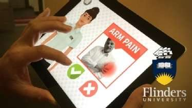 Avatar teaches patients to recognize symptoms of heart attack and call emergency